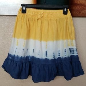 Girls Blu/Wht/Yell Tie Dye Skirt